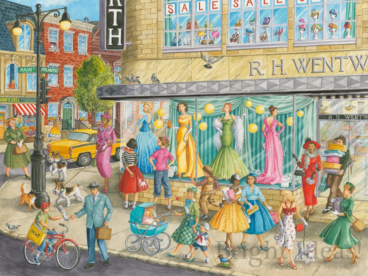 Sidewalk Fashion - 1500 Piece Jigsaw Puzzle by ...