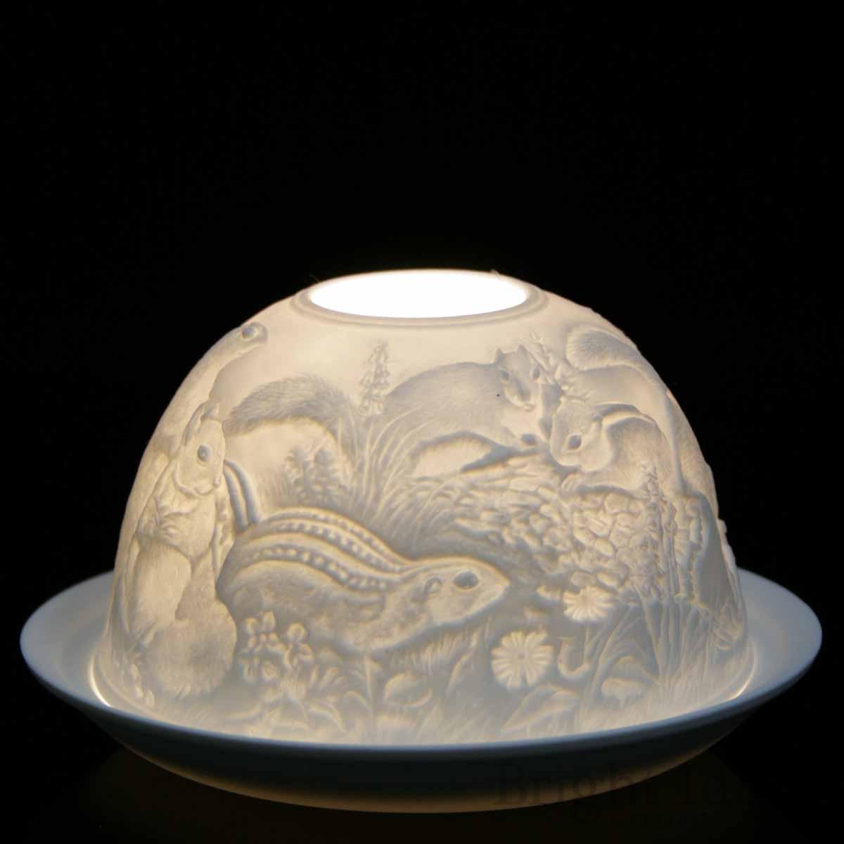 Nordic Lights White Roses Bone Porcelain Candle Shade Tea Light Holder Gift