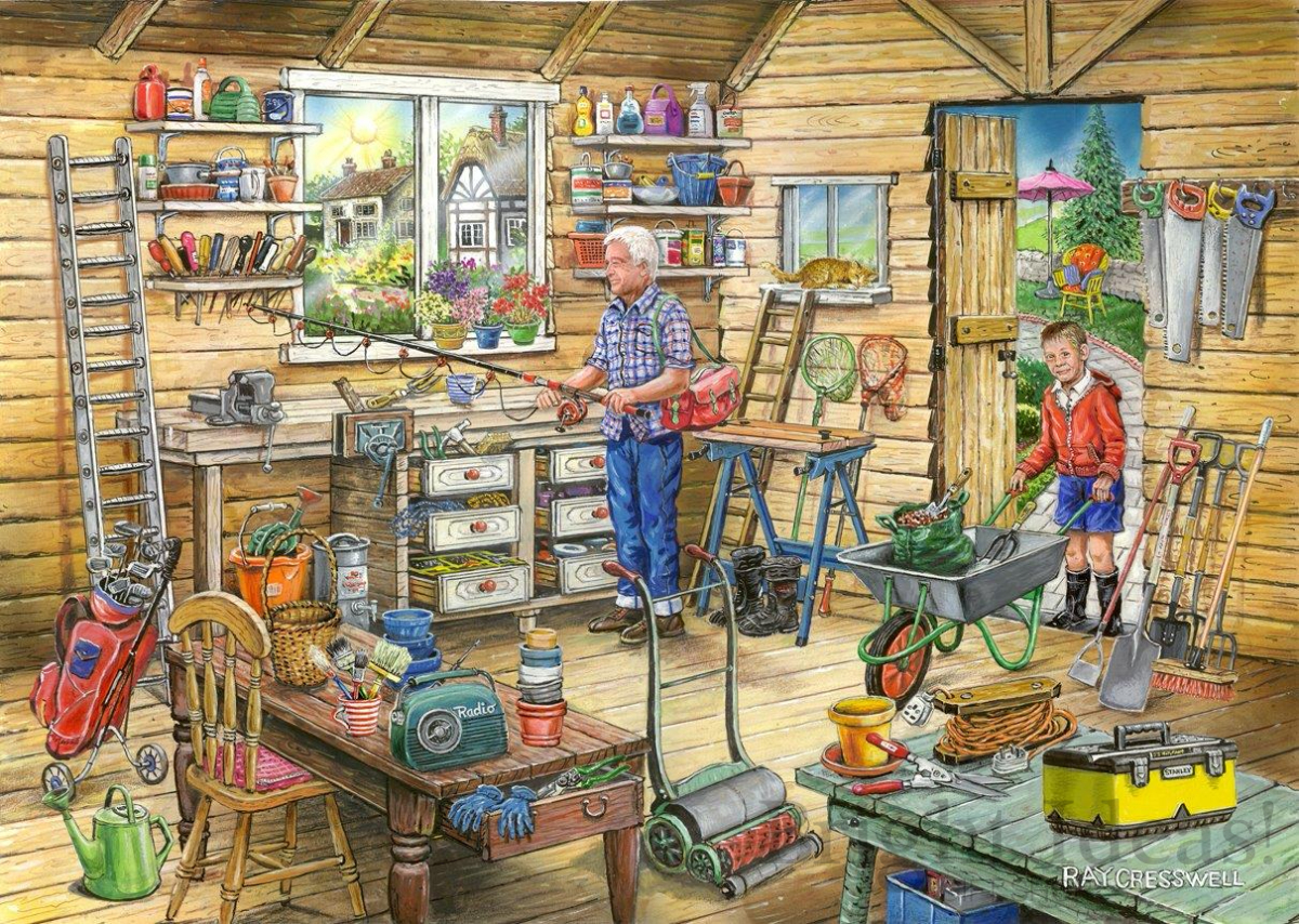Fred S Shed No 14 Find The Differences 1000 Piece Puzzle