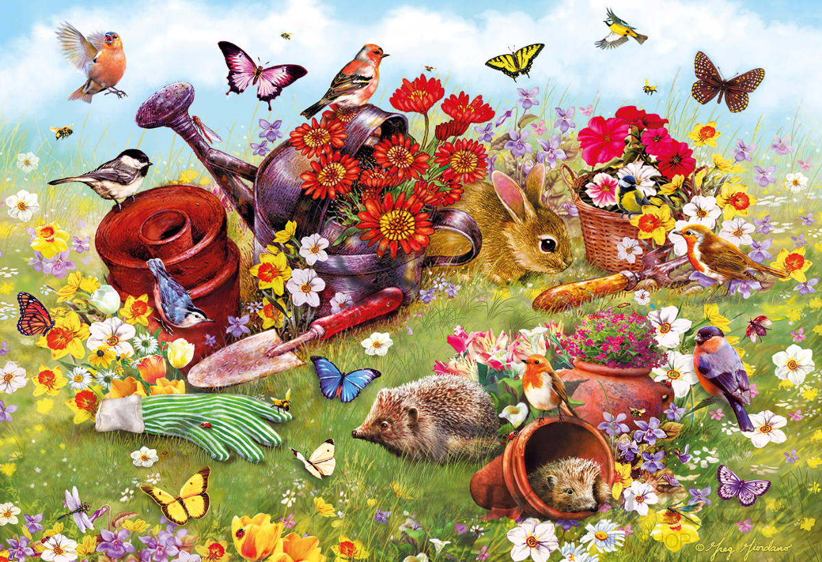 20ecef51039f In The Garden - 500 Piece Jigsaw Puzzle by Gibsons (G3122)