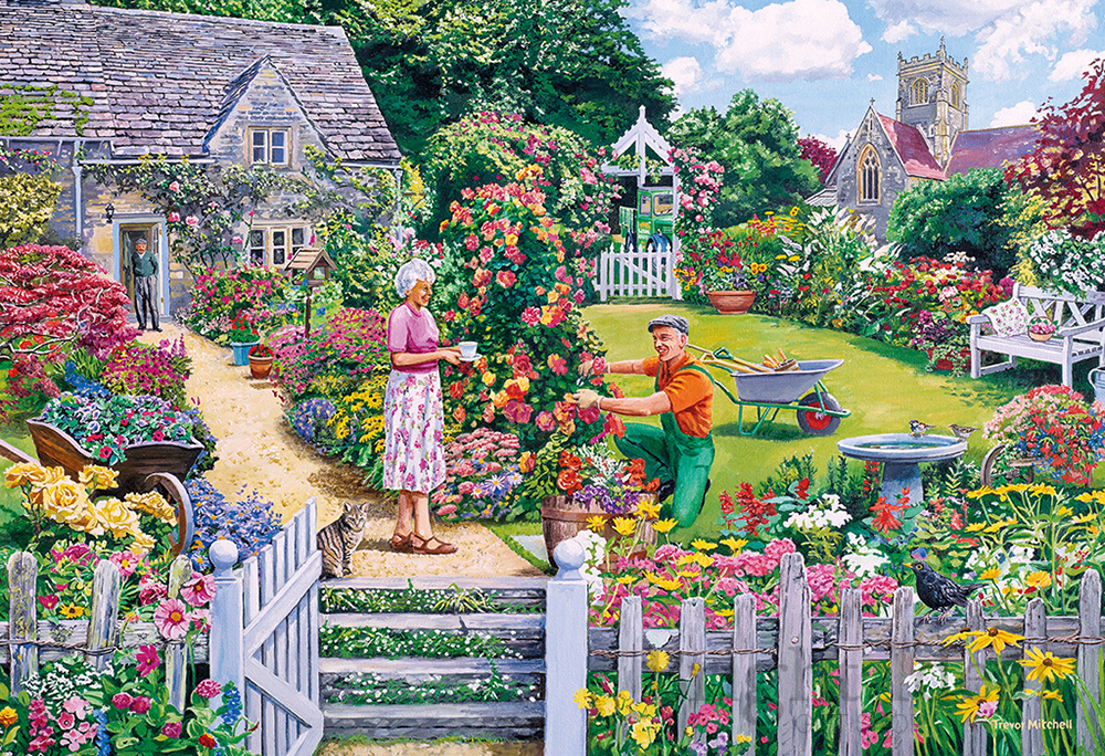 20a51b0797db The Gardener's Round - 4 x 500 Piece Jigsaw Puzzles by Gibsons (G5047)