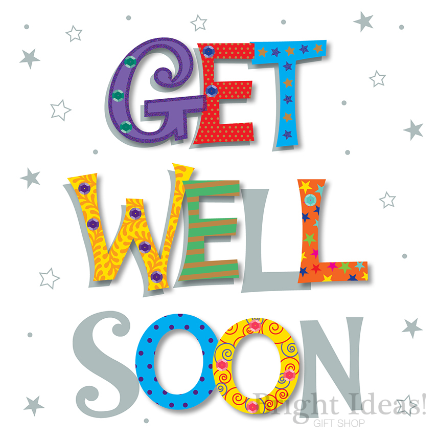 Get Well Soon Card by Ling Design (MWE30063/16)
