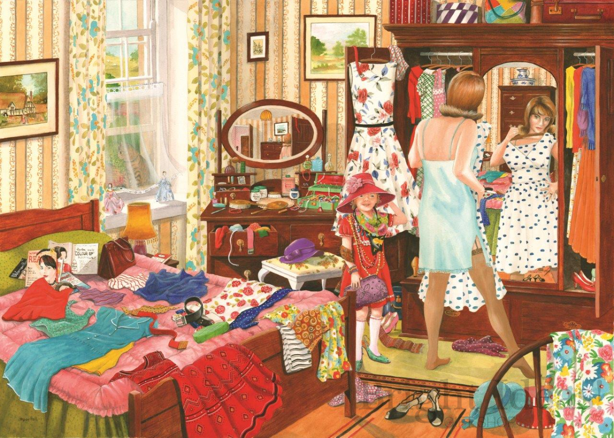 Nothing To Wear - Dellavaird Collection 1000 Piece Puzzle ...