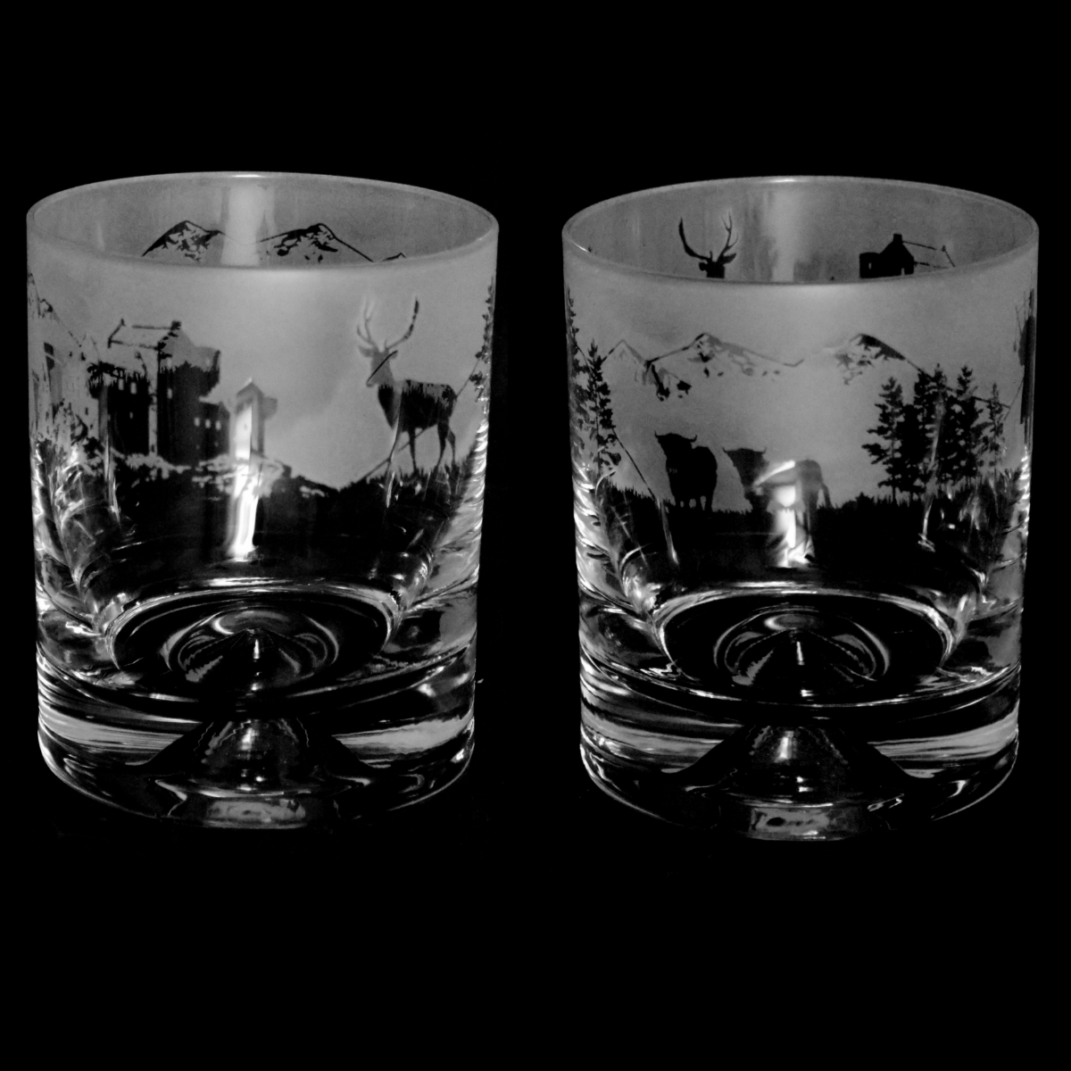 PENGUIN Frieze Boxed 30cl Glass Whisky Tumbler