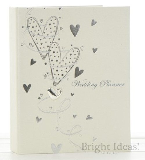 Wedding Day Planner Satin Finish Silver Hearts by Shudehill 77023