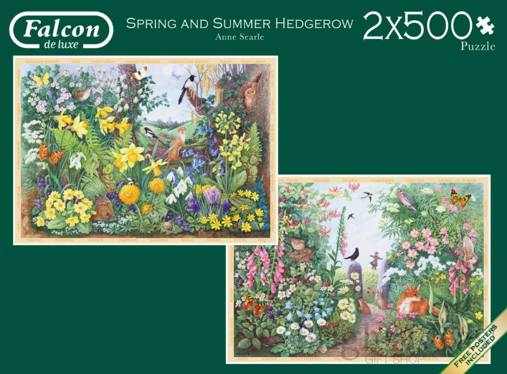 Spring Amp Summer Hedgerow 2 X 500 Piece Jigsaw Puzzles By
