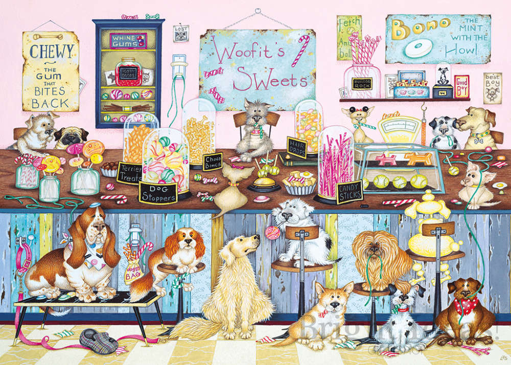 Gibsons Puzzle 1000 pieces life is sweet by Linda Jane Smith