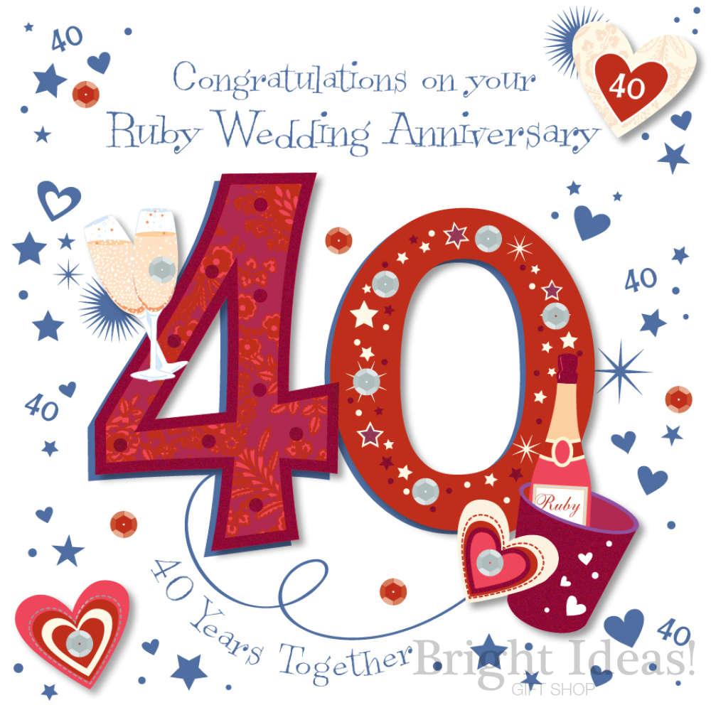 Happy Wedding Anniversary 40 Years