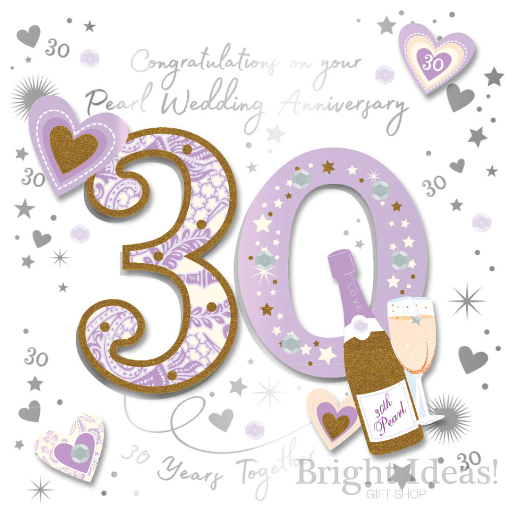 10th Pearl Wedding Anniversary Card
