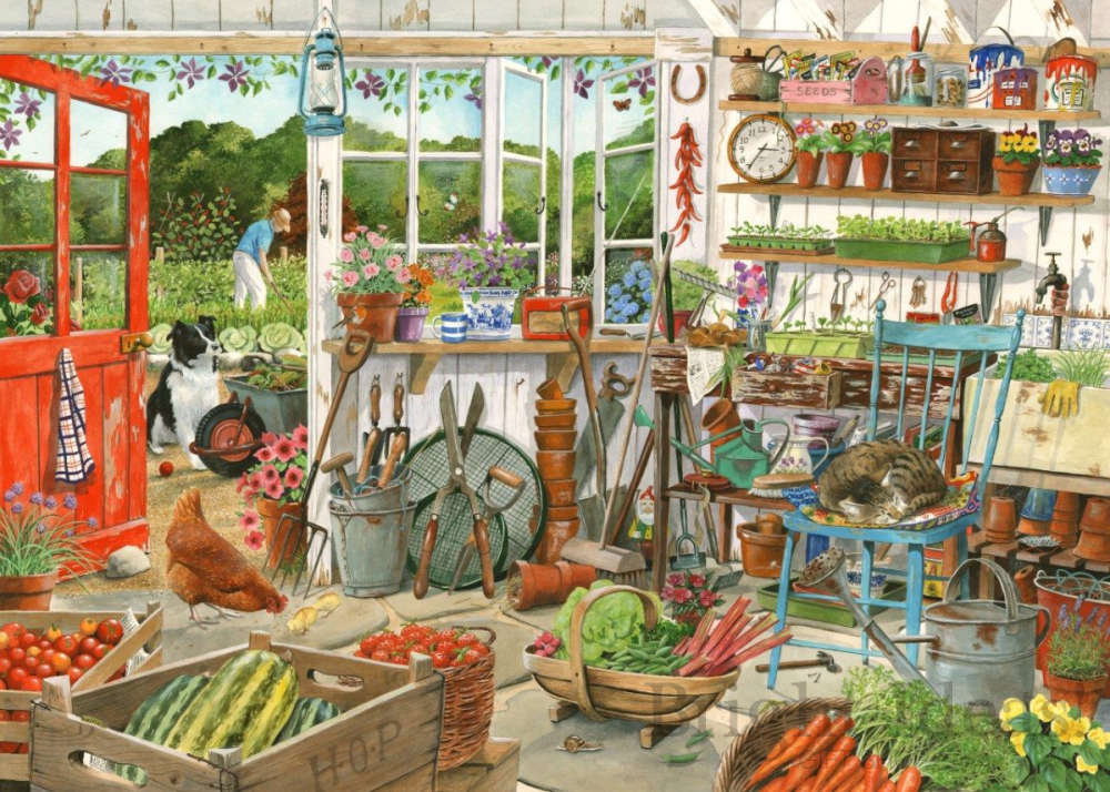 Potting Shed Dellavaird Collection 1000 Piece Puzzle By