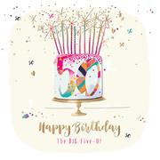 SFE30014 50 50th Birthday Card Cake Candles Talkin