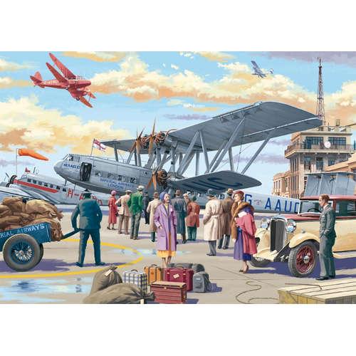 11153 croydon airport plane classic cars jigsaw pu