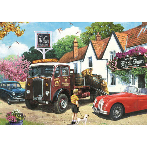 11176 The delivery round falcon jumbo jigsaw puzzl