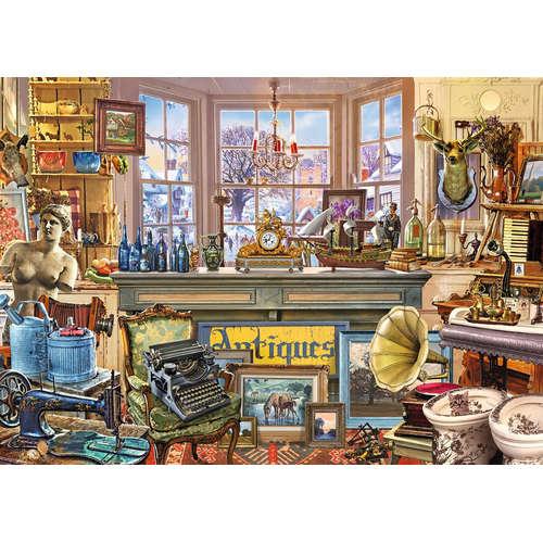 11188 Alberts antique shop shoppe jigsaw puzzle fa