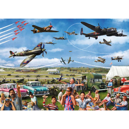11195 family airshow red arrows jigsaw puzzle falc