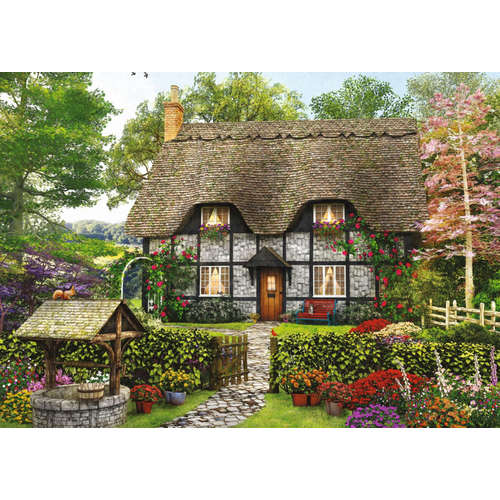 11210 Florist Cottage wishing well jigsaw puzzle j