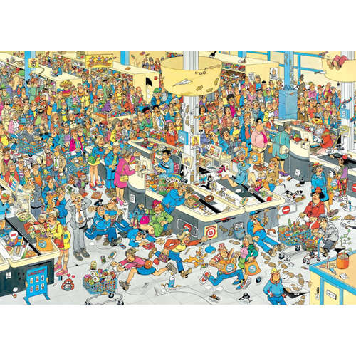 17466 queued up supermarket jigsaw puzzle jumbo
