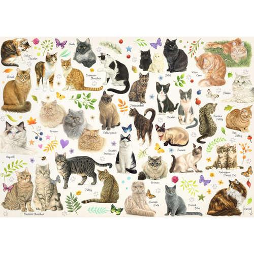18595 cat cats poster jigsaw puzzle jumbo pets