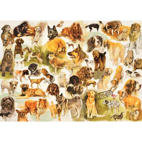 18595 dogs poster jumbo jigsaw puzzle dog pet