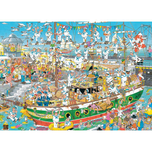 19014 tall Ship chaos jan van haasteren jigsaw puz