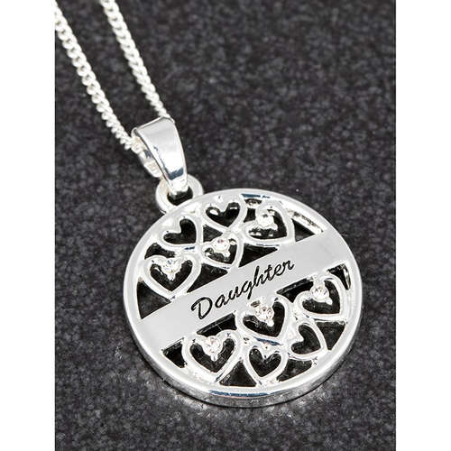 279942 Daughter Hearts silver Equilibrium Pendant