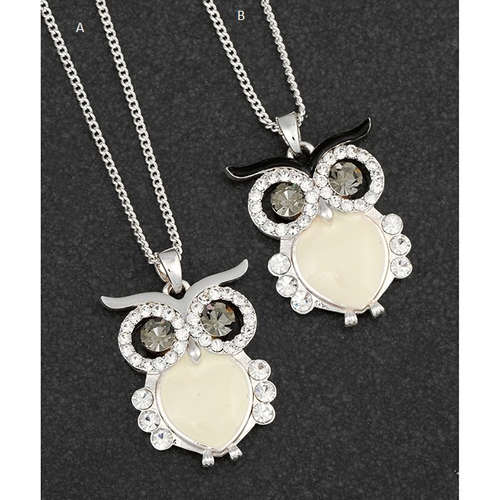 284298 equilibrium wise owl necklace silver hand