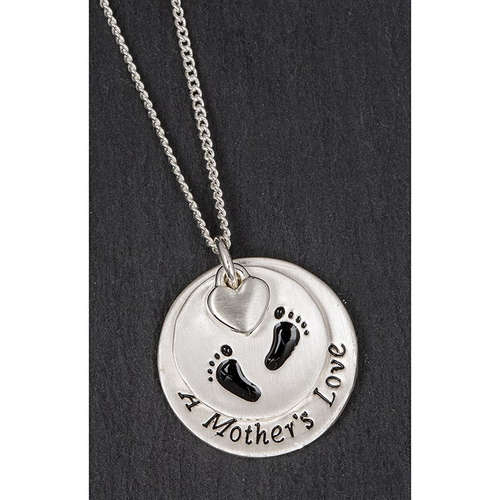 69785 A mothers love heart pendant silver necklace