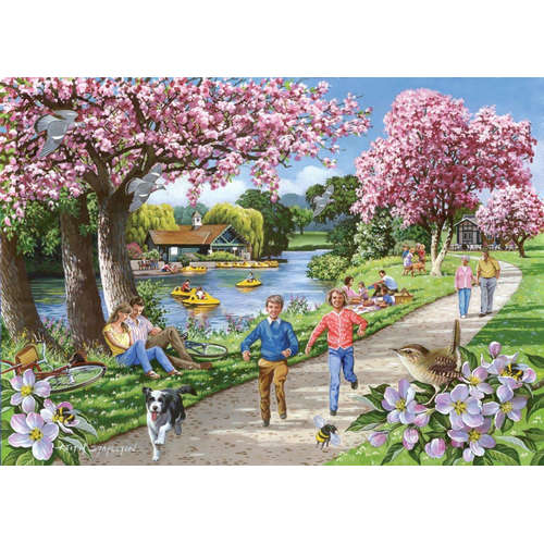 Apple Blossom House of PUzzles big piece jigsaw