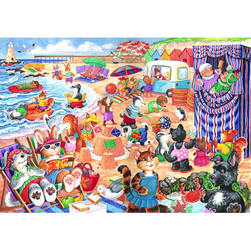 At the seaside jigsaw puzzle children house of puz