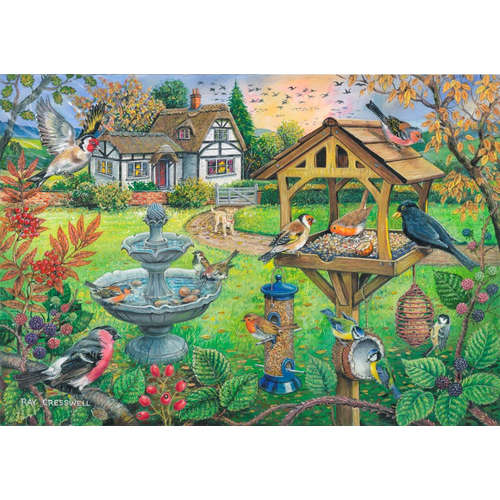 Bird Table house of puzzles big piece jigsaw puzzl
