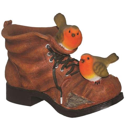 BS-BT01-D robin planter boot vivid arts birds real