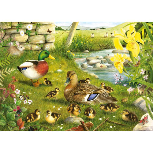 Ducks To Water House of Puzzles Jigsaw Big 500 Pie