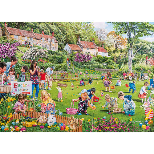 G3095 Easter Egg Hunt Gibsons Jigsaw Puzzle