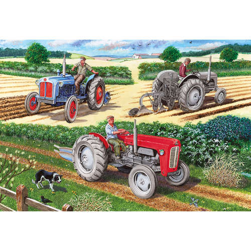 G3106 The ploughing Match gibsons jigsaw tractor p