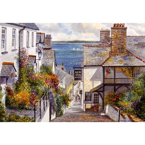 G3407 Covelly fishing village jigsaw puzzle gibson