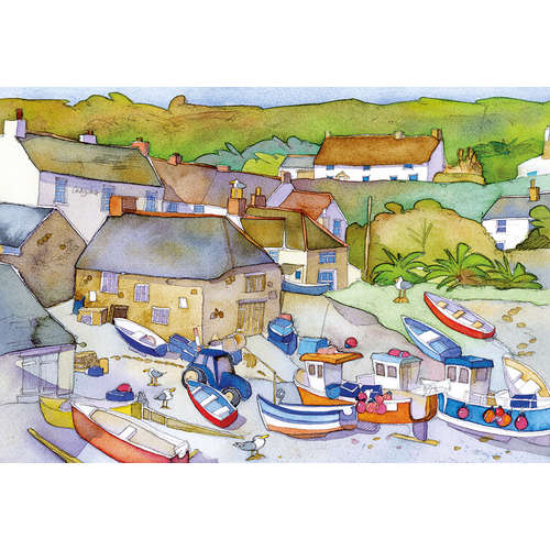 G3414 fishing village gibsons jigsaw puzzle boats