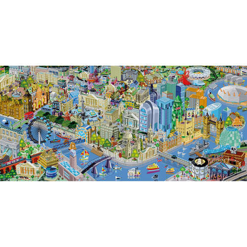 G4023 The Shard London jigsaw puzzle gibsons panor