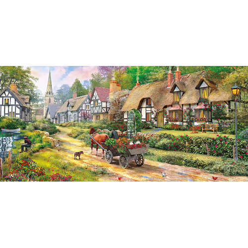 G4040 Heading Home Gibsons Panoramic Jigsaw Puzzle