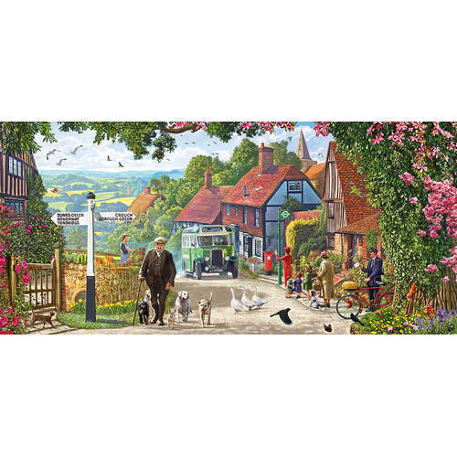 G4044 morning stroll jigsaw puzzle dogs gibsons