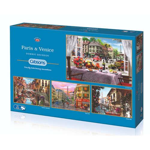 G5039 Paris Venice Gibsons Jigsaw Puzzle buildings