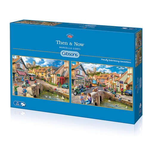G5041 Then and now gibsons jigsaw puzzle 2 x 500