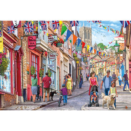 G6229 Steep Hill Lincoln Gibsons Jigsaw Puzzle