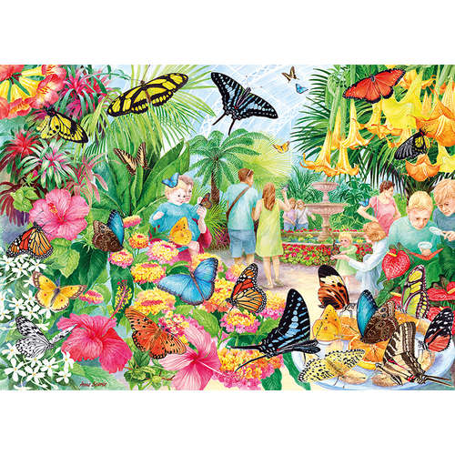 G6231 Butterfly House Gibsons Jigsaw Puzzle