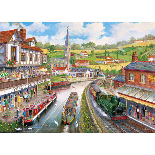 G6240 Ye Olde Mill Tavern Gibsons Jigsaw Steam Tra