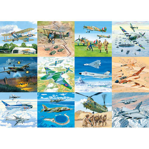 G6242 tribute to RAF Finest Gibsons Jigsaw Puzzle