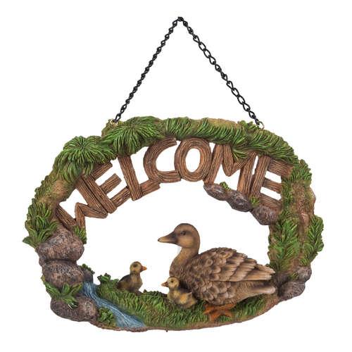 HGF-052 Ducks welcome sign vivid arts real life