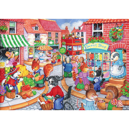 In the town house of puzzles childrens jigsaw puzz