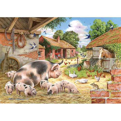 Poppies Piglets House Of Puzzles Jigsaw BIG 500
