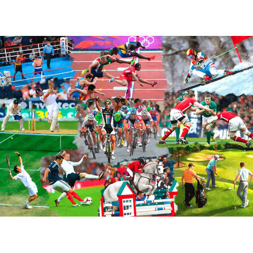 Sports Mixture House of Puzzles Jigsaw big pieces