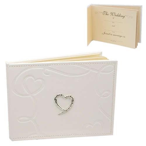 WG259 Swirling Hearts Wedding Day Guest Book